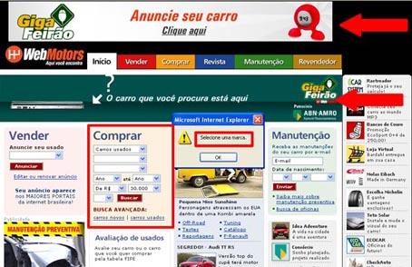 Webmotors difãil procurar carro