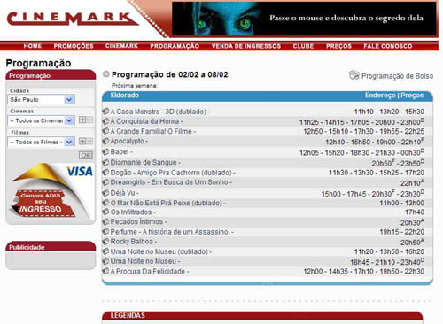 Legendas Cinemark