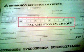 formulário paradepósito